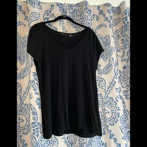 Tahari Black short sleeve shirt